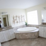custom home bathroom with whirlpool tub
