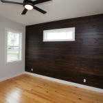 Stained Wood Accent Wall