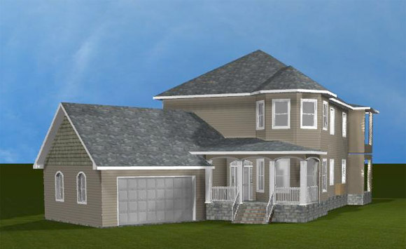 Custom Home Rendering