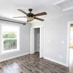 Son's Room, Blue/Grey Paint, Wood Floors, Brown Fan
