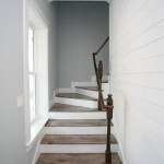 Wood Floor, White Trim, Staircase, Window Trim, T&G Wall