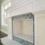 Faux Fireplace with Decorative Tile