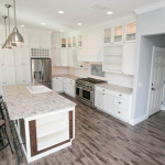 Large Kitchen Island with Granite Countertops